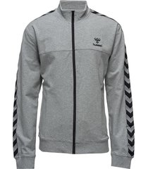 classic bee aage zip jacket sweat-shirt tröja grå hummel
