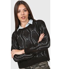 sweater negro moni tricot calado