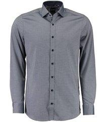 overhemd body fit donkerblauw