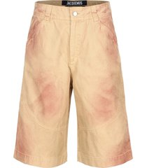 jacquemus cotton bermuda shorts