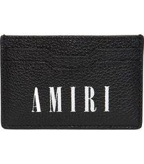 leather bandana print card holder black