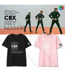 kpop exo cbx tshirt hey mama t-shirt unisex tshirt chen baekhyun xiumin cotton