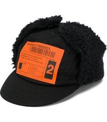 neighborhood delivery label print textured cap - black