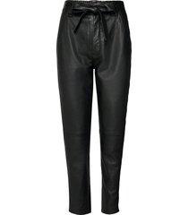 indie leather new trousers leather leggings/broek zwart second female