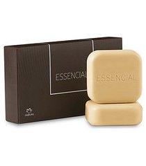 sabonete em barra essencial masculino edição limitada - 2un de 90g