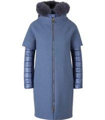 fur hood padded coat