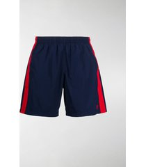 alexander mcqueen side stripe swim shorts