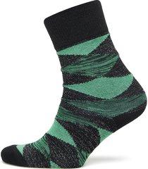 didde squares lingerie hosiery socks grön becksöndergaard