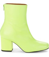 cecile leather heeled booties