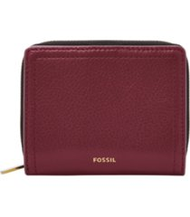 fossil logan leather mini multifunction wallet