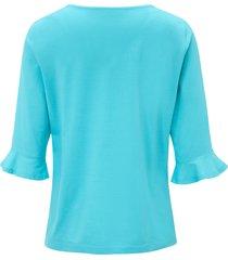 shirt met 3/4-mouwen van green cotton turquoise