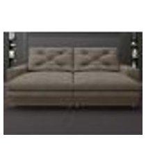 sofá neon 2,20m retrátil e reclinável velosuede marrom - netsofas