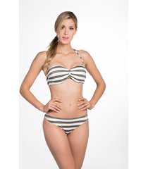 bomain halter bikini lurex stripe 27919-301 wit