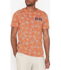 only & sons onspatrik fitted aop ss tee nf 3158 t-shirts & linnen orange