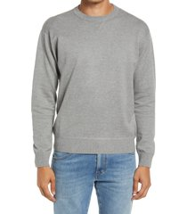 men's closed french terry cotton blend crewneck sweater, size small - grey