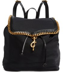 rebecca minkoff woven chain backpack in black at nordstrom