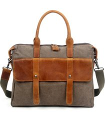 tsd brand women's computer canvas briefcase