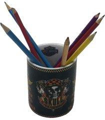 porta lápis personalizado cerâmica moto  9x8x8cm - tricae