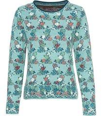 jacquard pullover, blauw-motief 36/38