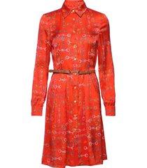 3357 - amethist jurk knielengte rood sand