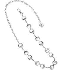 giani bernini horse-bit chain belt, created for macy's