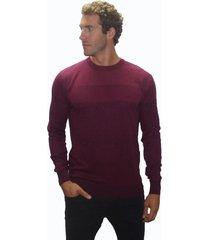suéter listrado john sailor degradê vinho - kanui