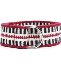 isabel marant woven belt - red