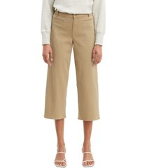 levi's classic utility wide-leg cropped jeans