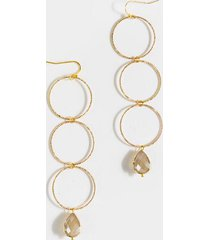 hannah linear circle drop earrings - champagne