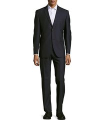 classic-fit flat-front wool suit