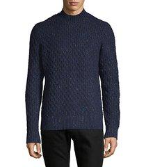honeycomb-knit wool-blend sweater