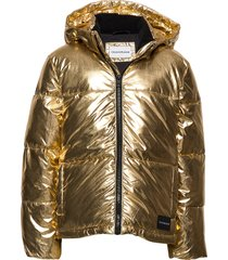 gold puffer jacket gevoerd jack goud calvin klein