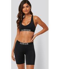 calvin klein bikiniunderdel i surfshortsmodell - black
