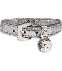 miu miu madras bracelet - grey
