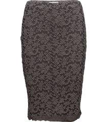 skirt knälång kjol svart rosemunde