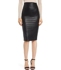 women's commando faux leather midi skirt, size medium - black