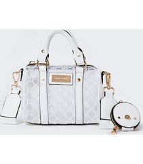 river island womens white ri mesh mini bowler crossbody bag