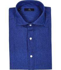 fay dark denim cotton shirt