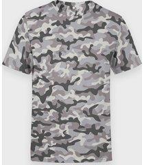 męska koszulka moro (bez nadruku, gładka) - szara