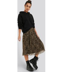 na-kd pleated midi skirt - multicolor