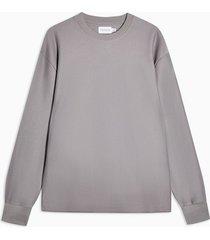 mens grey silver twill sweatshirt