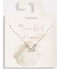 maurices womens dainty butterfly necklace gray