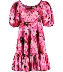 alexander mcqueen floral poplin dress