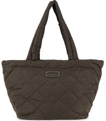 marc jacobs women's medium quilted tote - black
