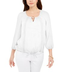 jm collection crochet-trim tie top, created for macy's