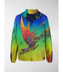 valentino dragon print lightweight jacket
