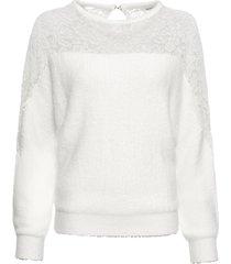 maglione con maniche a pipistrello e pizzo (bianco) - bodyflirt