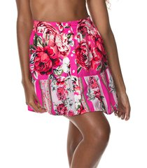 falda fucsia-multicolor maaji swimwear fantasy trilogy