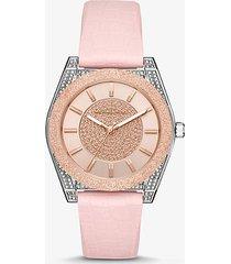 mk orologio channing tonalità oro rosa e silicone stampa serpente - rosa (rosa) - michael kors
