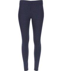 leggings estampado geometrico color azul, talla m